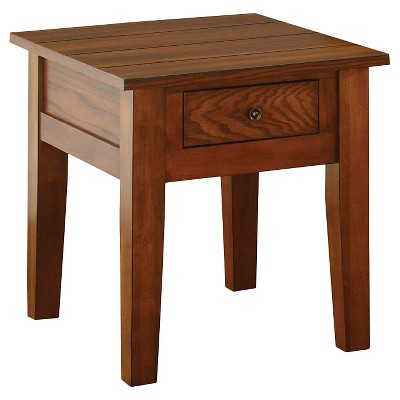 Merveilleux Desoto End Table Red Oak   Steve Silver
