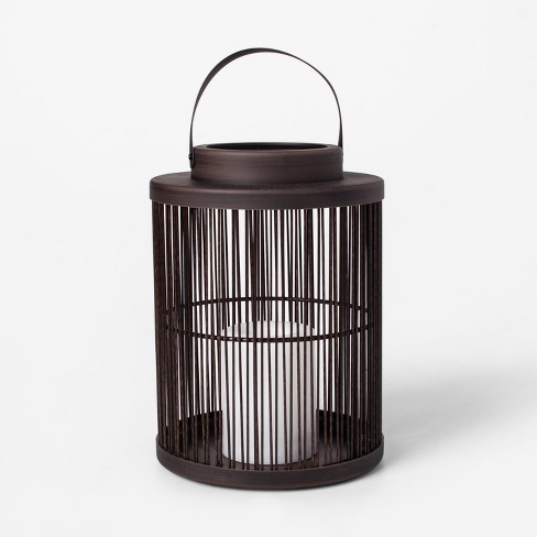 Vertical Weave LED Battery Operated Outdoor Lantern - Threshold™ - image 1 of 2