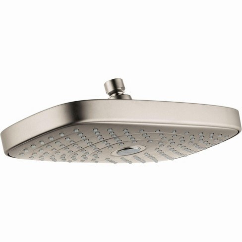Hansgrohe 27387 Raindance Select E Multi Function 2 5 Gpm Shower Head Brushed Nickel Target