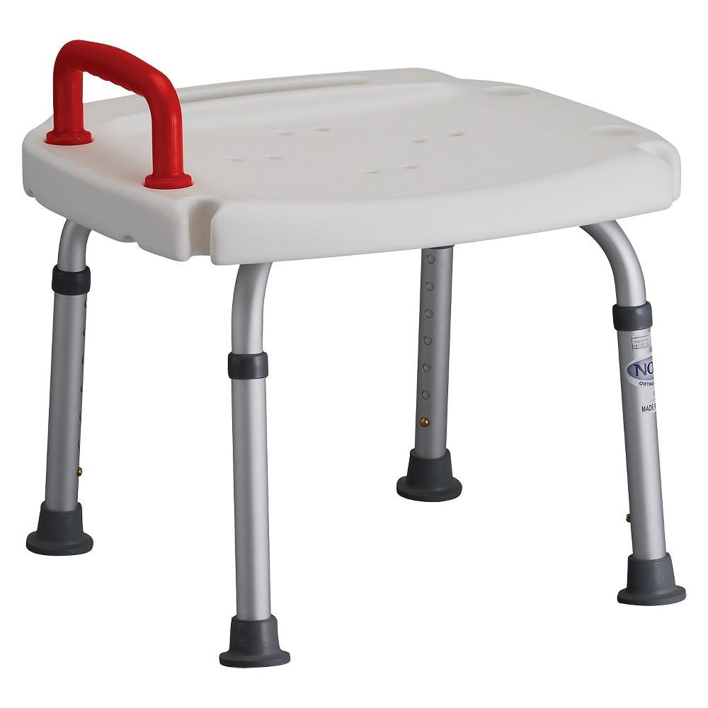 Nova Bath Seat with Handle - White