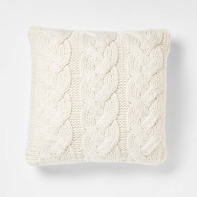 Chunky Cable Knit Throw Pillow - Threshold™
