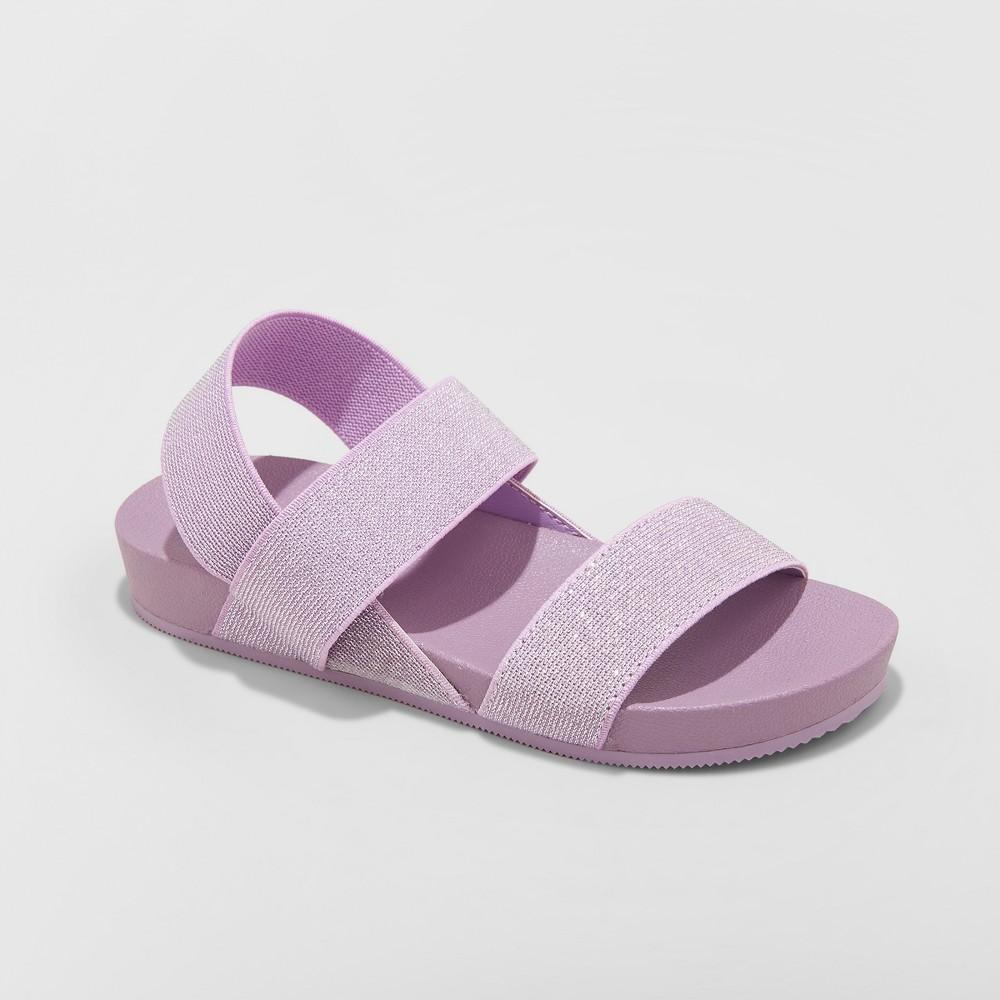 Girls' Prue Elastic Slide Sandals - Cat & Jack Purple 2