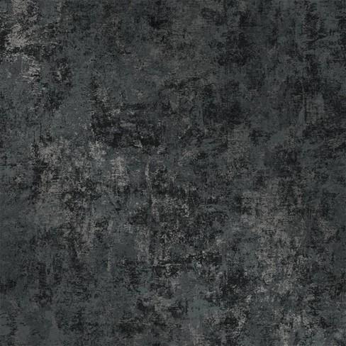 Tempaper Leaf Gunmetal Self Adhesive Removable Wallpaper Black Target