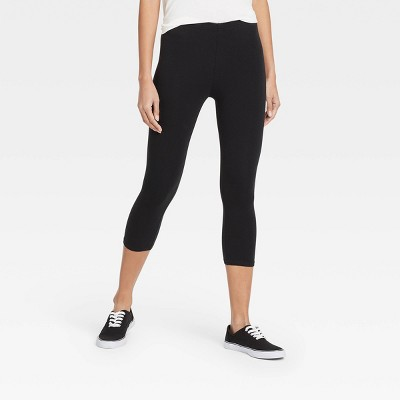 Women's Cotton Capri Leggings - Xhilaration™ Black