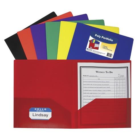C-Line Poly Portfolio Folder, Letter, 2-Pocket, Assorted Colors, set of 36 - image 1 of 1