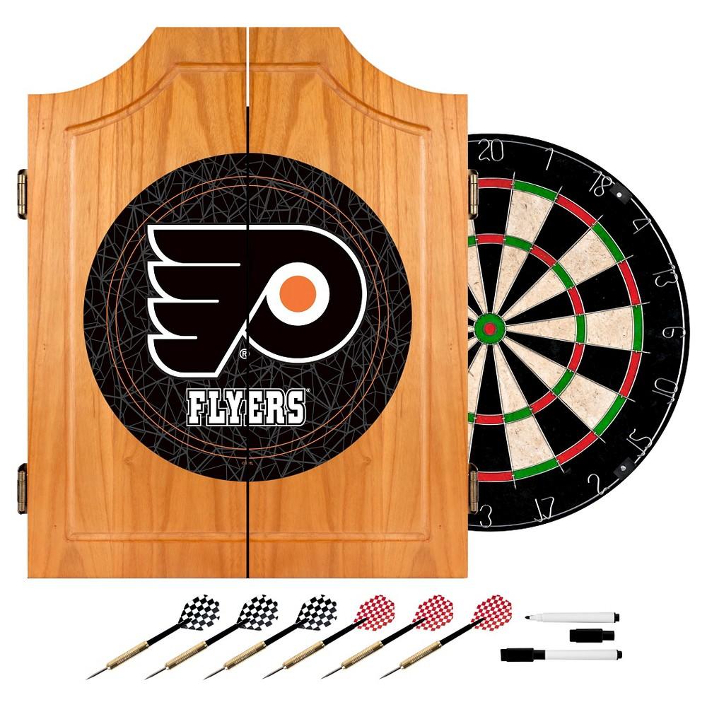 Philadelphia Flyers Wood Dart Cabinet Set