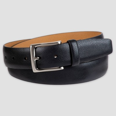 Men's 35mm Feather Edge Pebble Belt - Goodfellow & Co™ Black