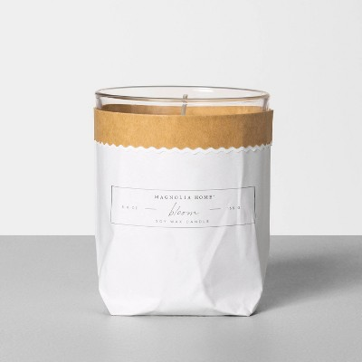 5.8oz Bagged Glass Jar Candle Bloom - Magnolia Home by Joanna Gaines