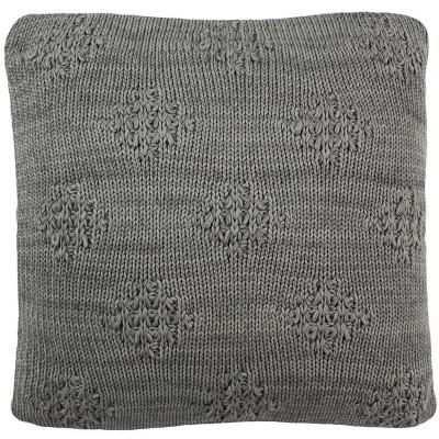 Cozy Knit Square Throw Pillow Light Gray - Safavieh