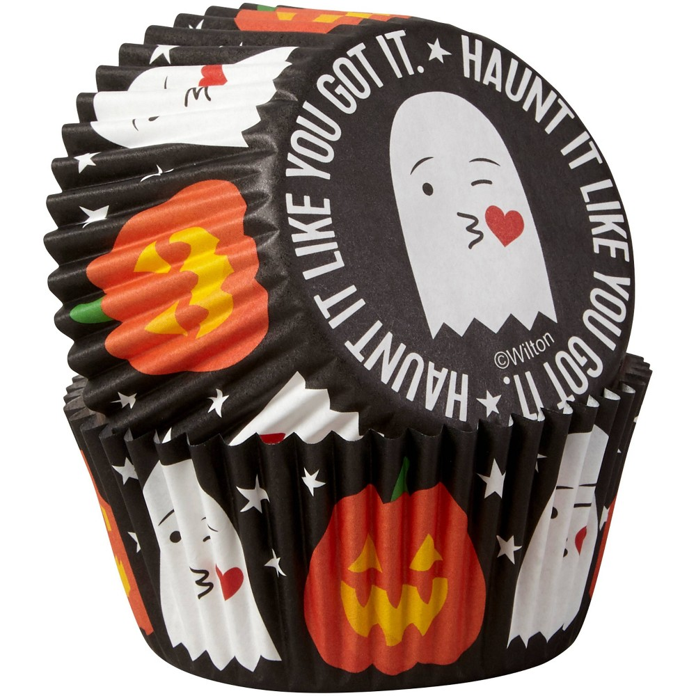 Image of Wilton 75ct Paper Haunt It Like You Got It Halloween Cupcake Liners