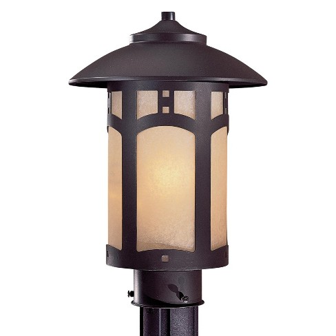 The Great Outdoors GO 9066  1 Light Post Light from the Bay Hill Collection
