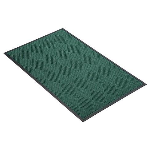 Dark Green Solid Doormat - (2'X3') - HomeTrax - image 1 of 4