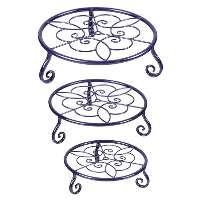 13  H Metal Planter Stand And Holders - Evergreen
