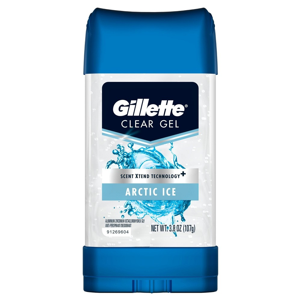 Image of Gillette Arctic Ice Clear Gel Antiperspirant and Deodorant - 3.8oz