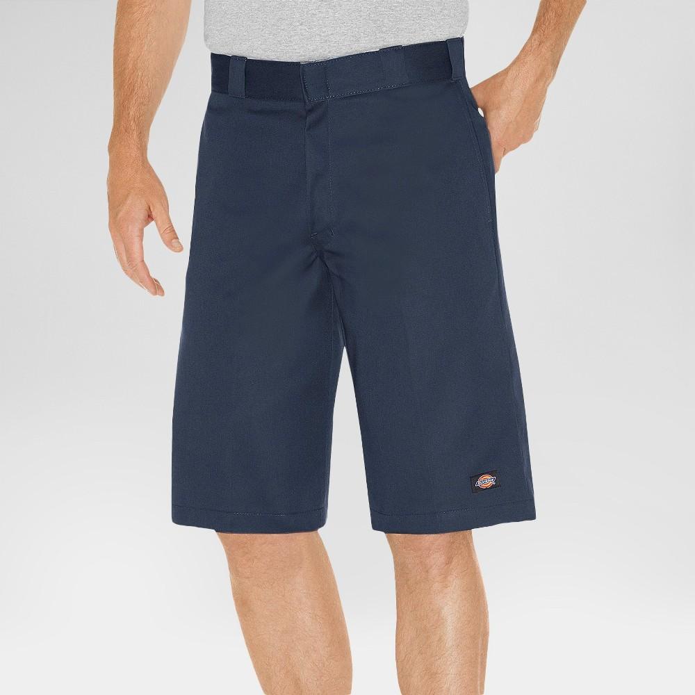 Dickies Men's Relaxed Fit Twill 13 Multi-Pocket Work Shorts- Dark Navy 38