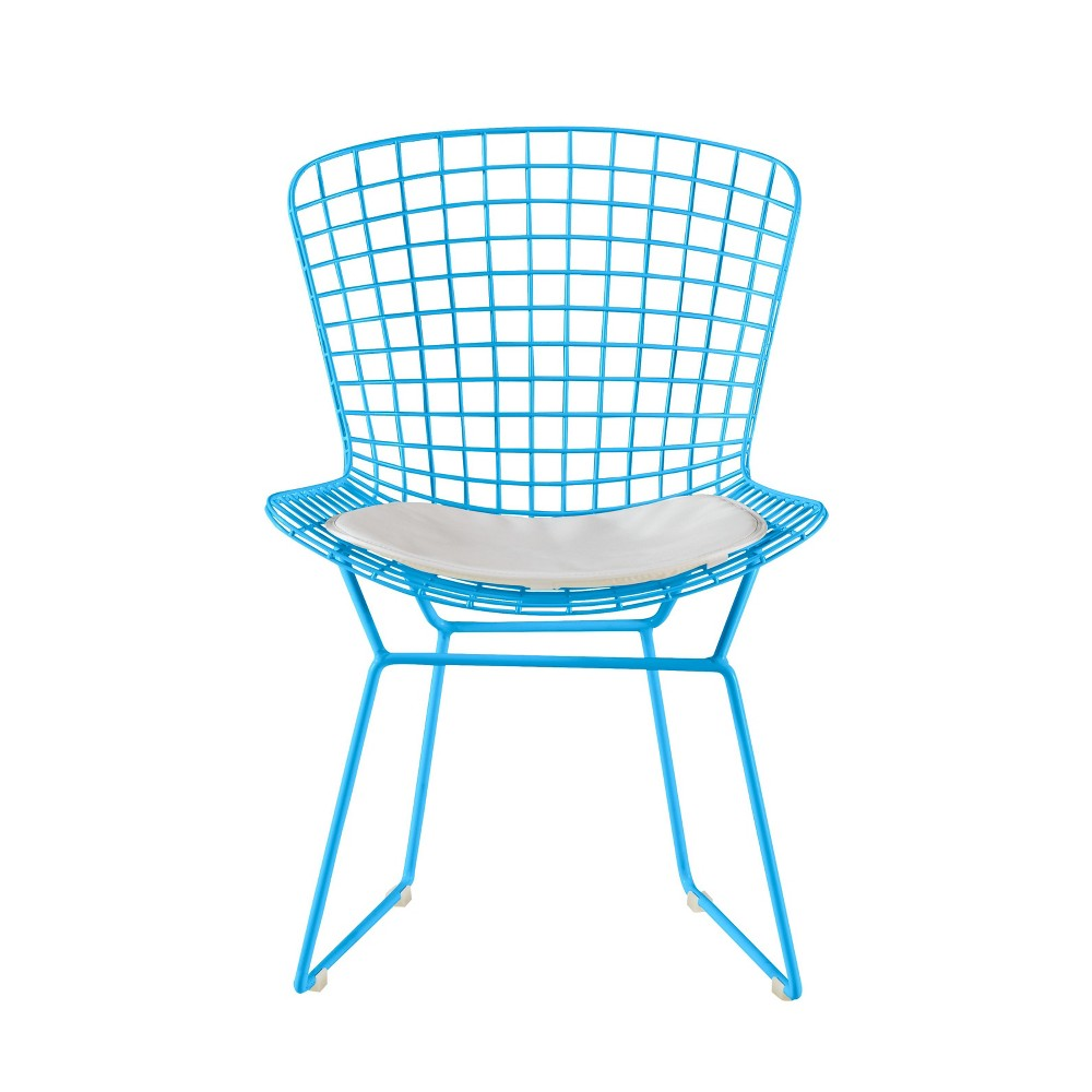 Holly Wire Chair Set of 2 Turquoise - Adore Decor