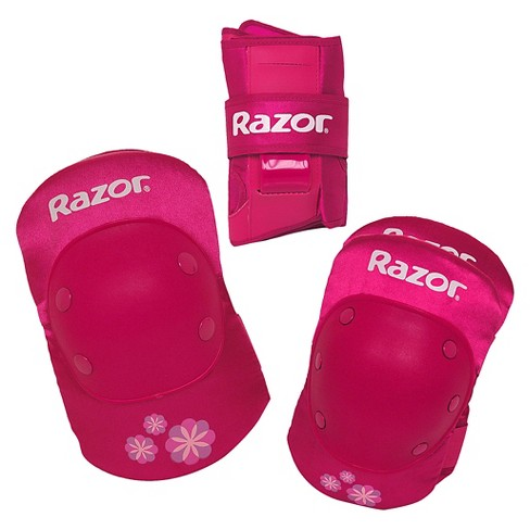 Razor Youth Bike Pad Set with Guards - Pink - image 1 of 5