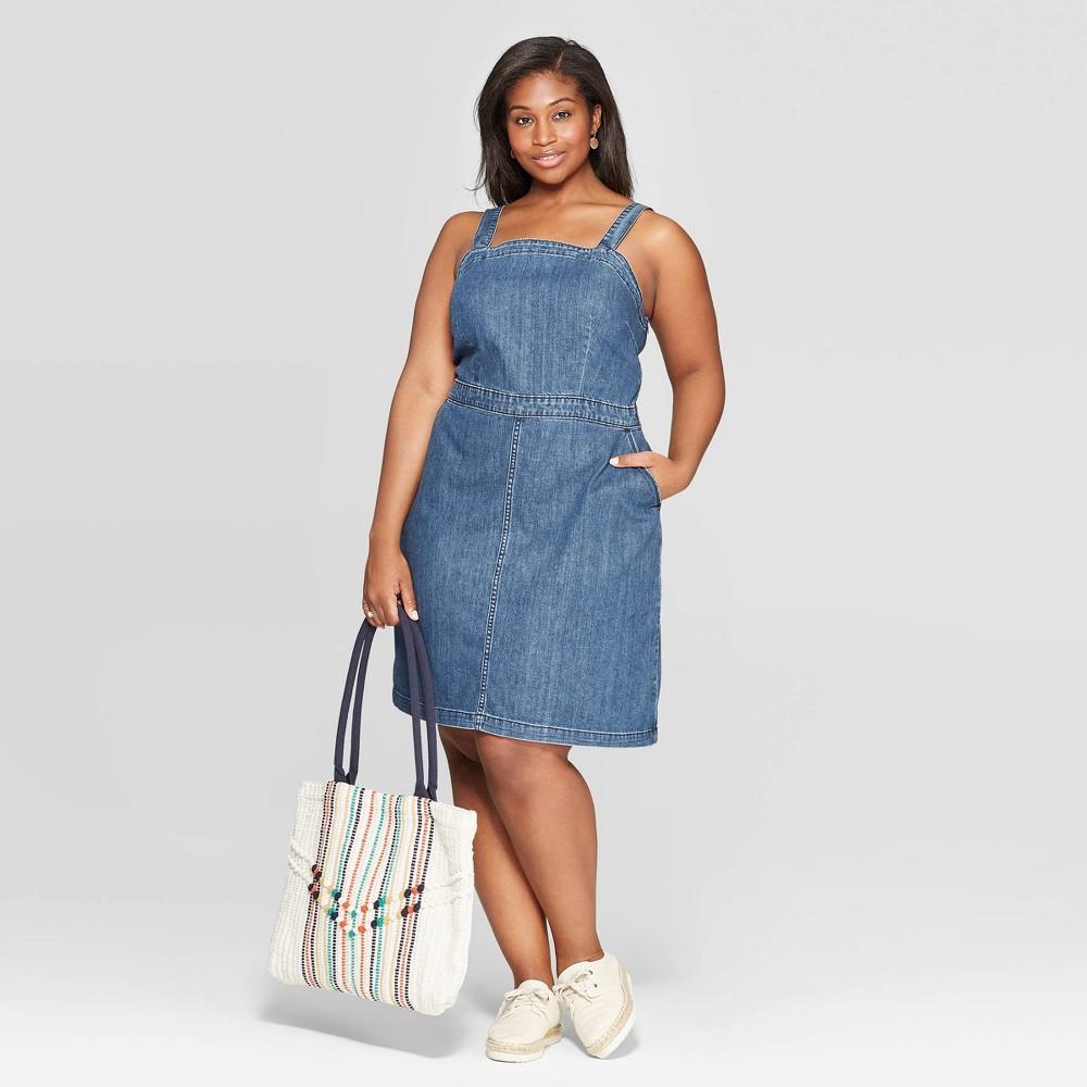 Women's Plus Size Sleeveless Scoop Neck Dress - Universal Thread Medium Blue 16W