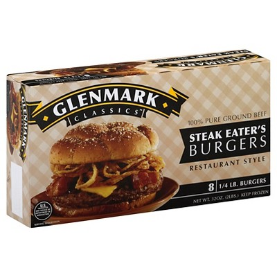 Glenmark Steak Eater's Burgers - Frozen - 32oz