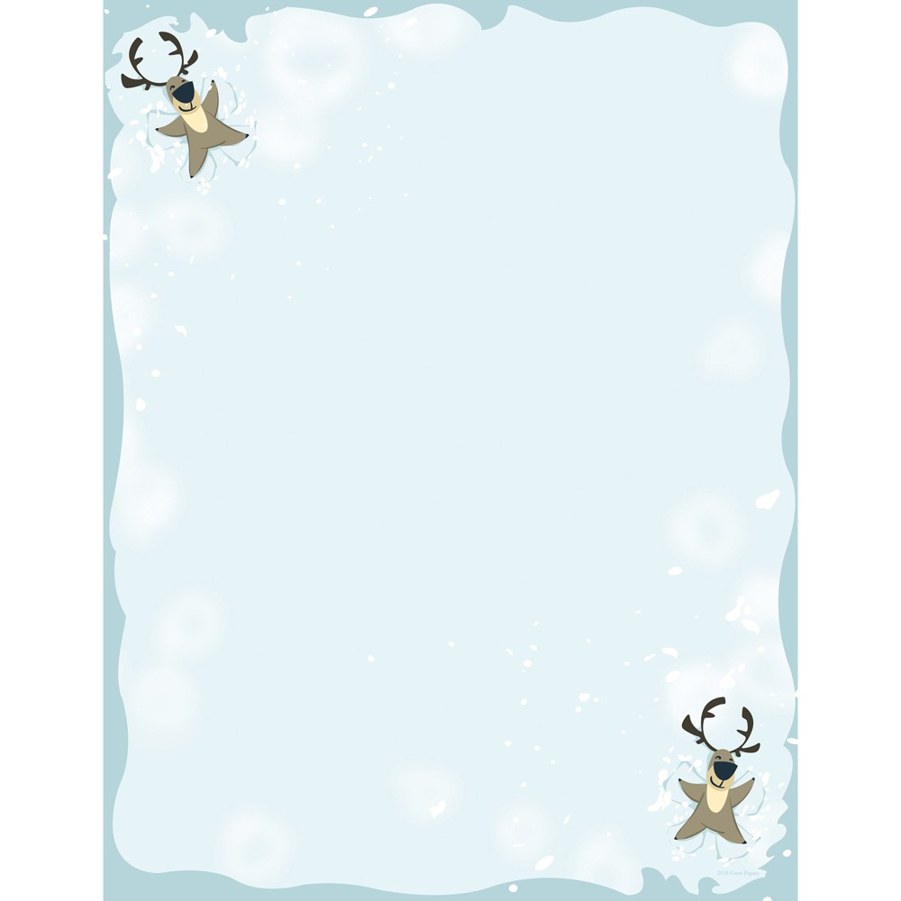 80pk Reindeer Snow Angel Stationery Kits - Great Papers!, Multi-Colored