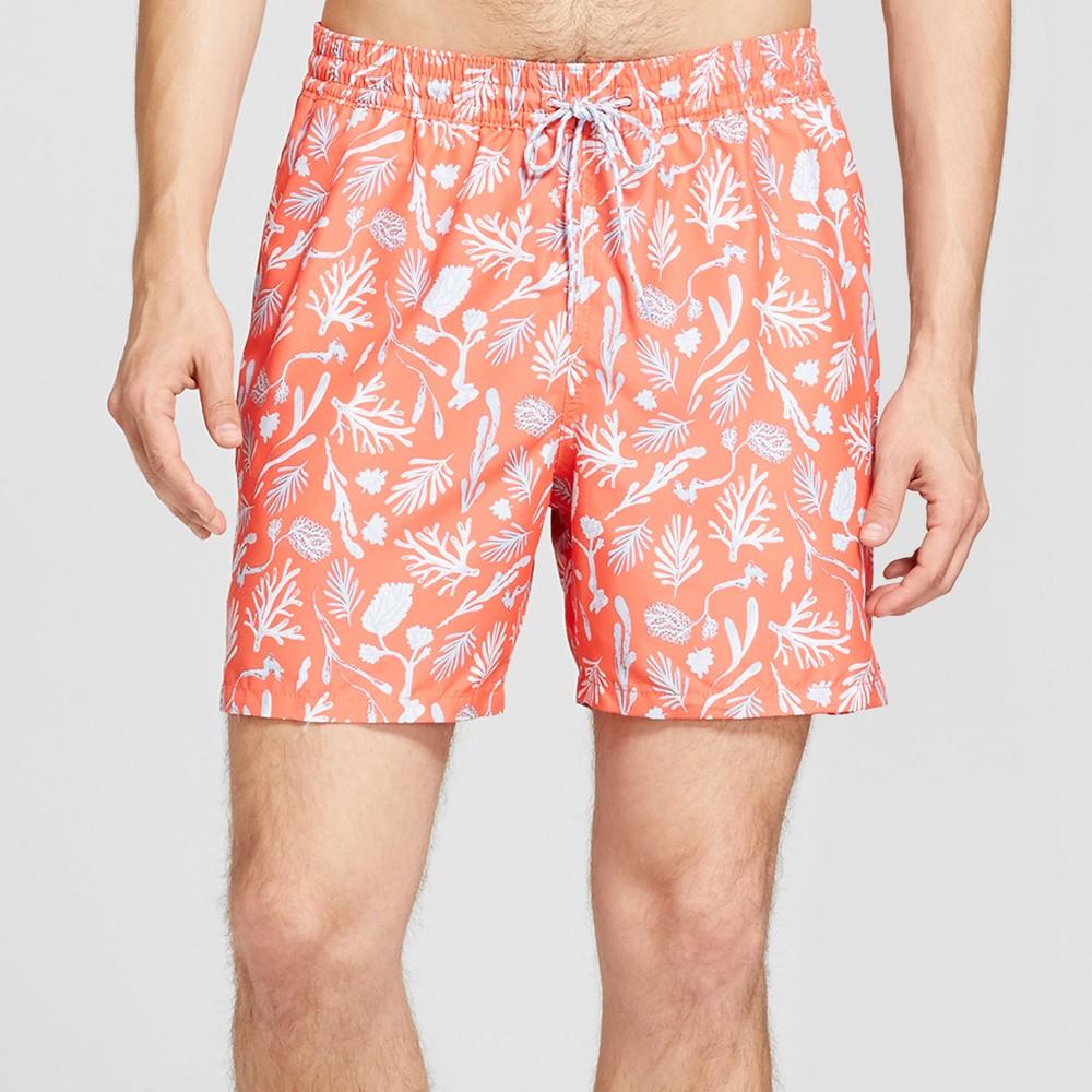 Men's 6 Elastic Waist In Print Repreve - Goodfellow & Co Coral Sea Life S, Pink