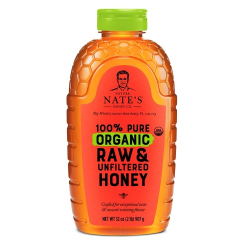 Nature Nate's 100% Pure Raw Unfiltered Organic Honey – 32oz - image 1 of 4