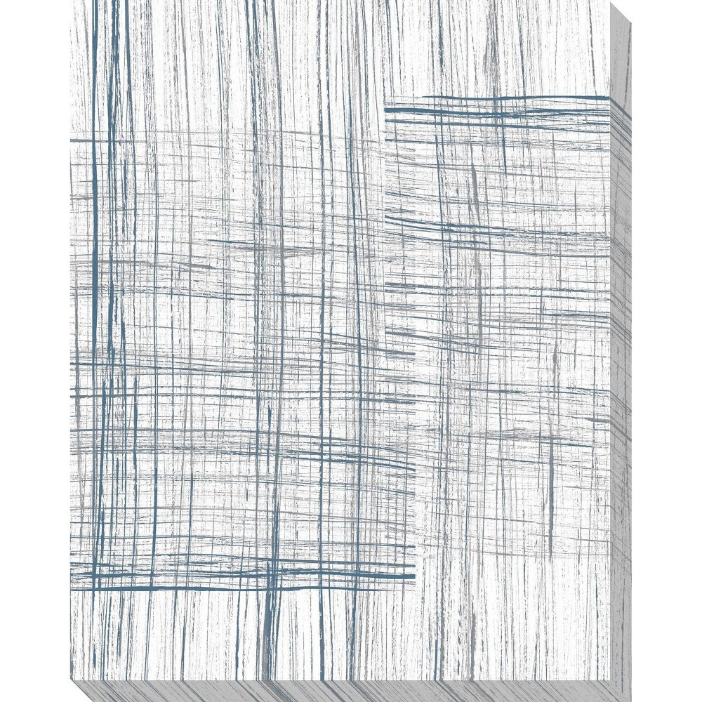Image of Abstract In Lines II Unframed Wall Canvas Art - (24X30)