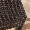 Cailen Outdoor Wicker Bar Stools (Set of 2) - Espresso - Abbyson Living - image 4 of 4