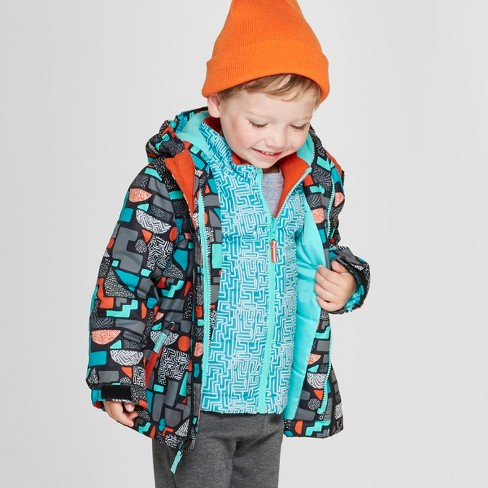 6646ab673e23 Toddler Boys  Geometric 3-in-1 Jacket - Cat   Jack™ Black   Target