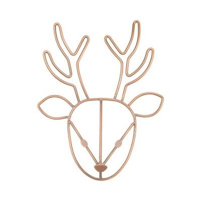 NoJo Deer Shaped Wire Nursery Wall Décor Copper Finish