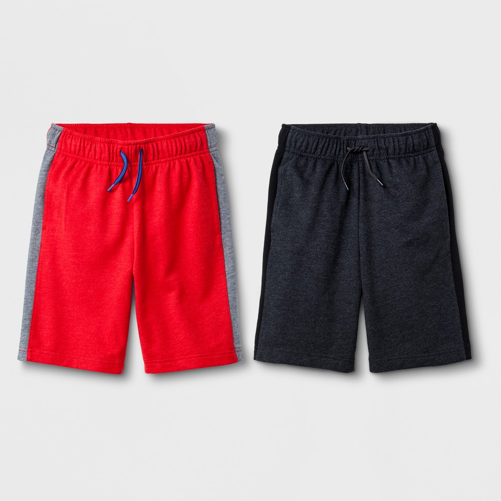 Boys' 2pc Knit Shorts - Cat & Jack Red/Black XL