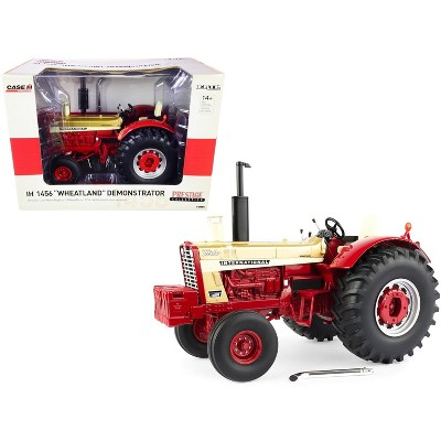 """IH International 1456 """"Wheatland"""" Demonstrator Tractor Gold and Red """"Prestige Collection"""" Series 1/16 Diecast Model by ERTL TOMY"""