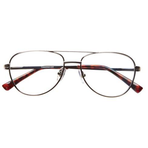 ICU Eyewear Screen Vision Aviator Gunmetal Glasses - image 1 of 4