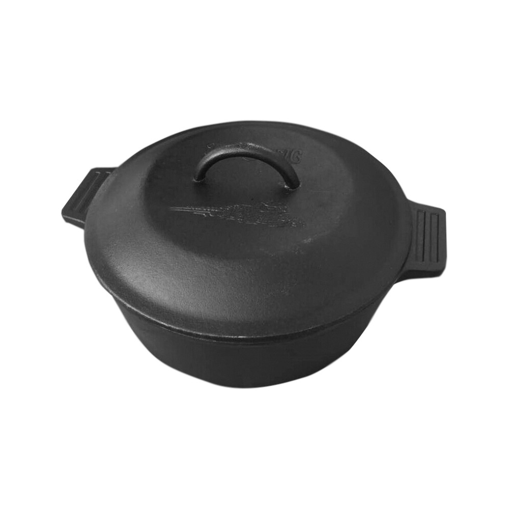 Image of Bayou Classic Cast Iron 4qt Covered Casserole, Black