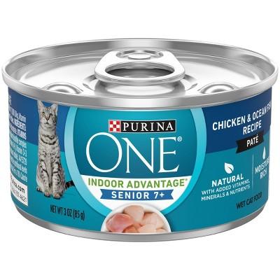 Purina ONE Indoor Advantage Senior 7+ Chicken and Ocean Fish Wet Cat Food - 3oz
