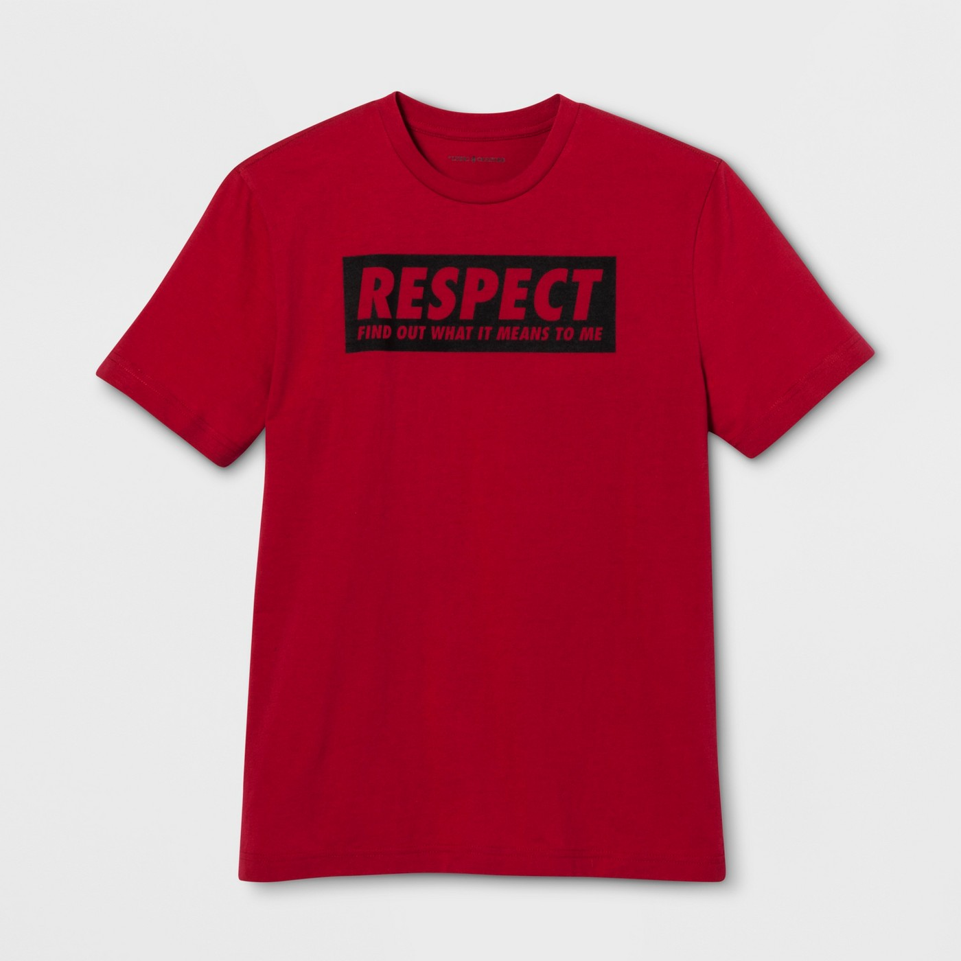 Lyric Culture Adult Short Sleeve Respect T-Shirt - Red - image 1 of 2