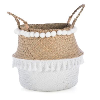 Small Laramie Basket  - Beige - Shiraleah