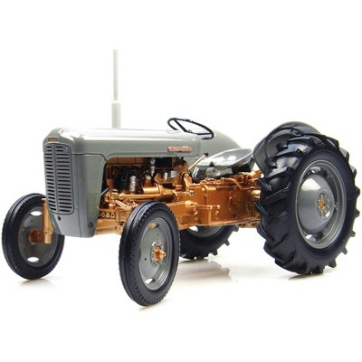 1956 Ferguson FE 35 Tractor Gray and Gold 1/16 Diecast Model by Universal Hobbies