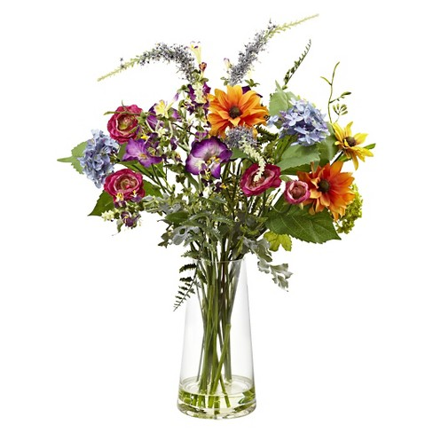 Nearly Natural Spring Garden Floral with Vase - image 1 of 1