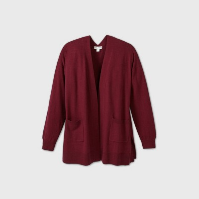 Women's Plus Size Open Neck Lightweight Cardigan - Ava & Viv™
