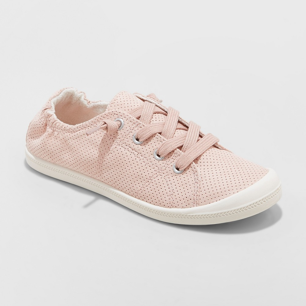 Women's Mad Love Lennie Lace-up Canvas Sneakers - Pink 5