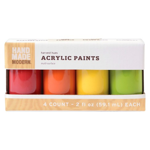 4Pk Paint Set Fall Colors Hand Made Modern® - image 1 of 1