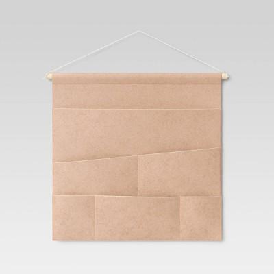 Felt Organizer Wall Tapestry Tan - Room Essentials™