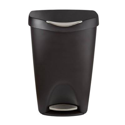 Umbra 13gal Brim Step Indoor Step Trash Can Black/Nickel