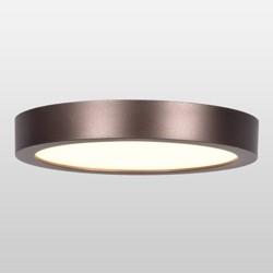 Ulko Exterior Round LED Flush Mount Outdoor Ceiling Light - Acrylic Lens Bronze Finish - Access Lighting