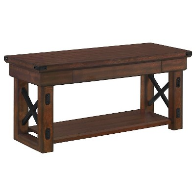Hathaway Wood Veneer Entryway Bench Espresso - Room & Joy