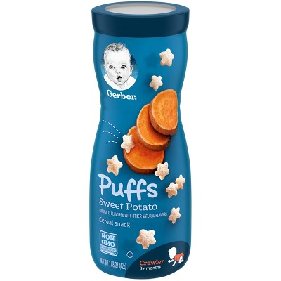 Gerber Puffs Sweet Potato Cereal Baby Snacks - 1.48oz