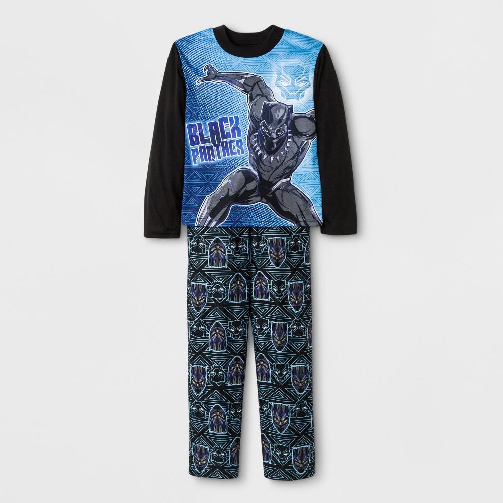 Boys' Marvel Black Panther 2pc Pajama Set - Black 10
