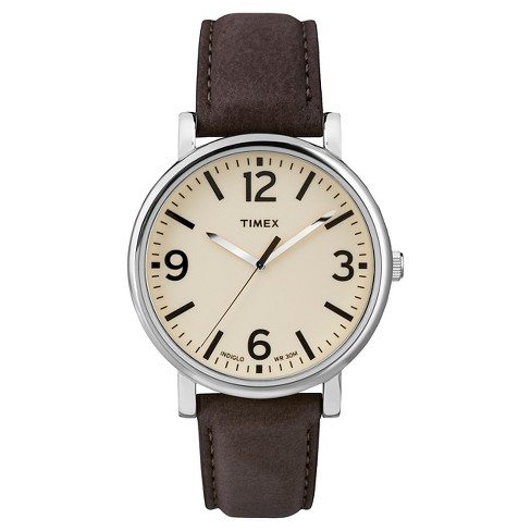 Timex Originals Watch with Leather Strap - Silver/Brown T2P5262B - image 1 of 1