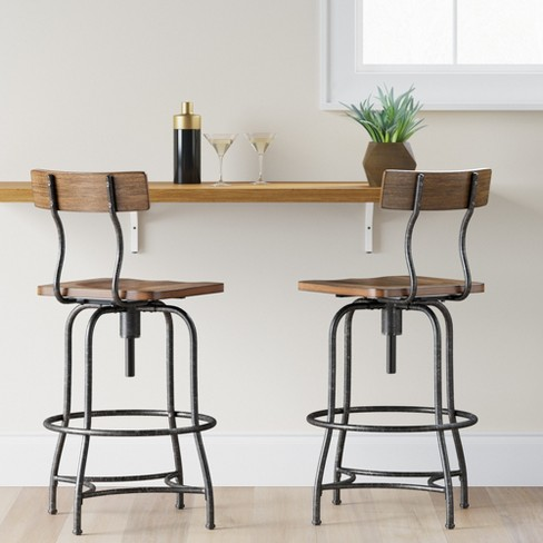 Henriksdal Bar Stool With Backrest